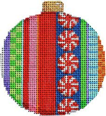 Associated Talents #CT-1812B Merry Stripe II Ball Ornament
