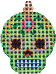 Associated Talents EE-1451 Sugar Skull Ornament/Lime