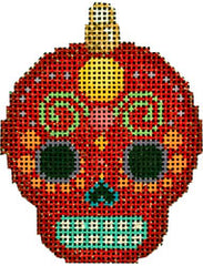 Associated Talents  #EE-1458  Sugar Skull Ornament/Red