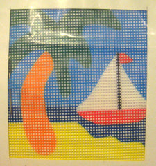 FW Crafts # 207 Palm Tree w/Sail Boat Kit