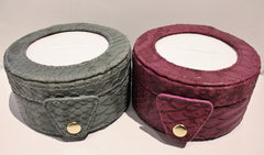 Lee Leather Goods # BAG29 Round Gift Box<br />MORE COLORS AVAILABLE