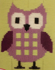 Vervaco # PN-0147442 Purple Owl Long Stitch