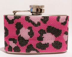 Voila # FL103P Pink Leopard Mini 3 oz. Flask