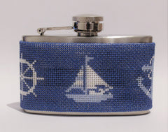 Voila # FL723 Nautical Mini 3 oz. Flask