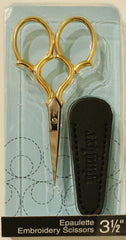 "Notions Marketing - 3 1/2"" Epaulette Embroidery Scissors"