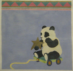 Nan Hempel Panda on Skateboard