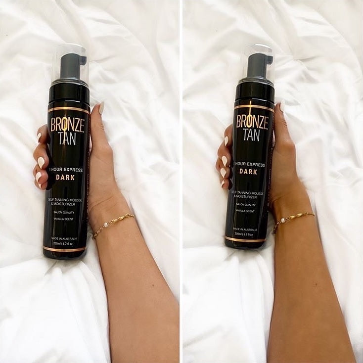 Self Tanning Mousse 1 Hour Express Dark  Dark Self Tanner