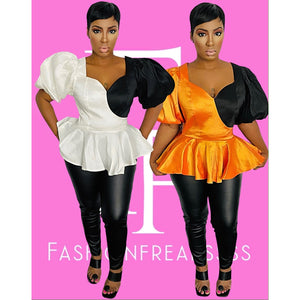 Half It Peplum Blouse