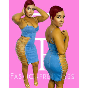 Baddest To Ever Do It Denim Dress