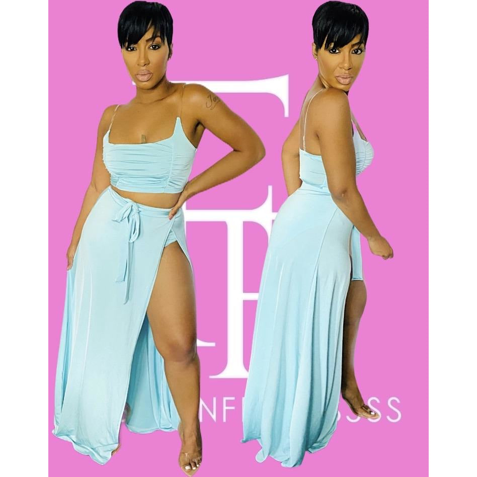 Baecation Skirt Set