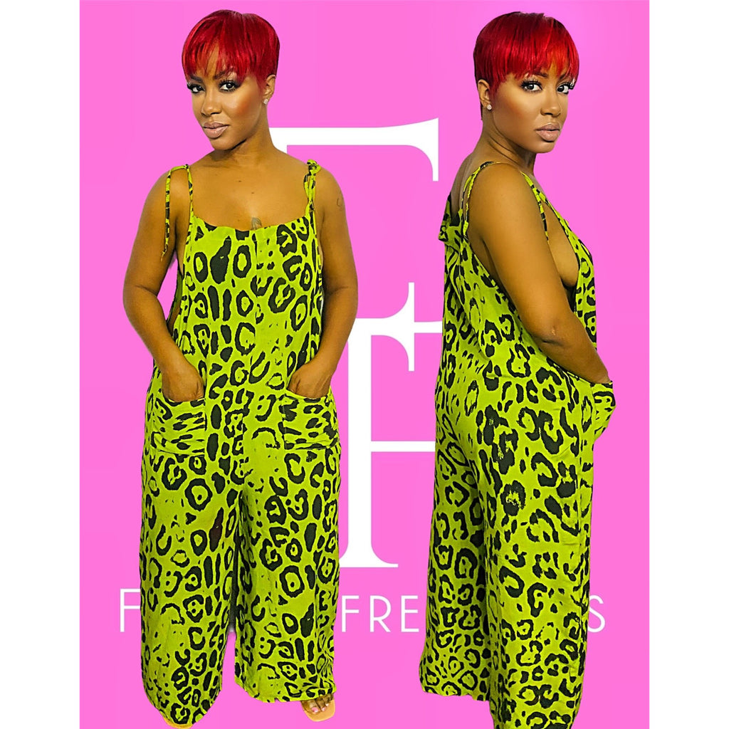 Lime Safari Jumpsuit