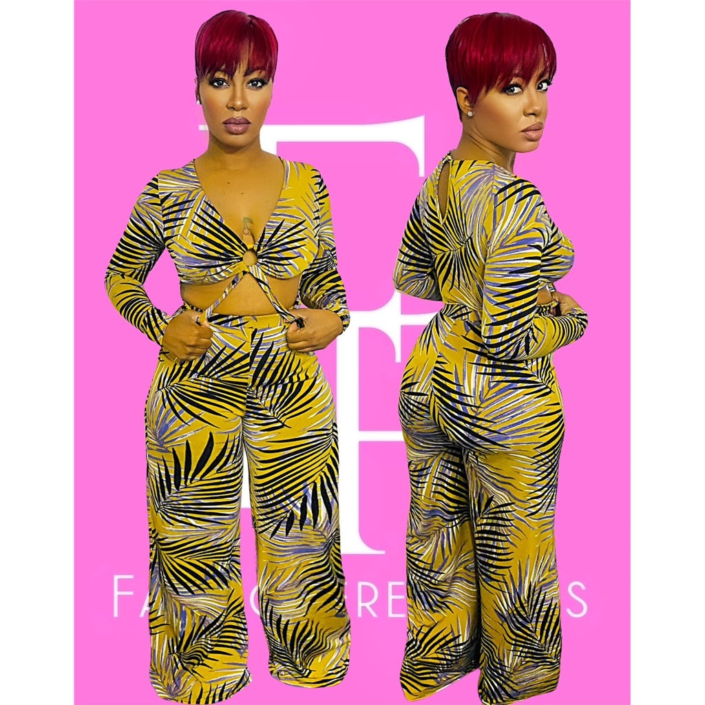 Olive Palms Jumpsuit