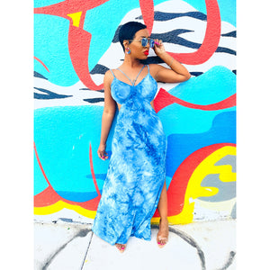 Blue Tye Maxi Dress