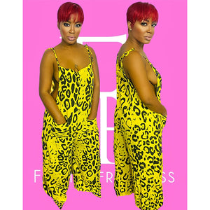Yellow Safari Jumpsuit