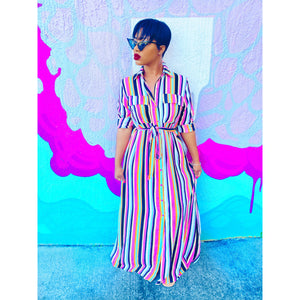 Cora Striped Maxi Dress