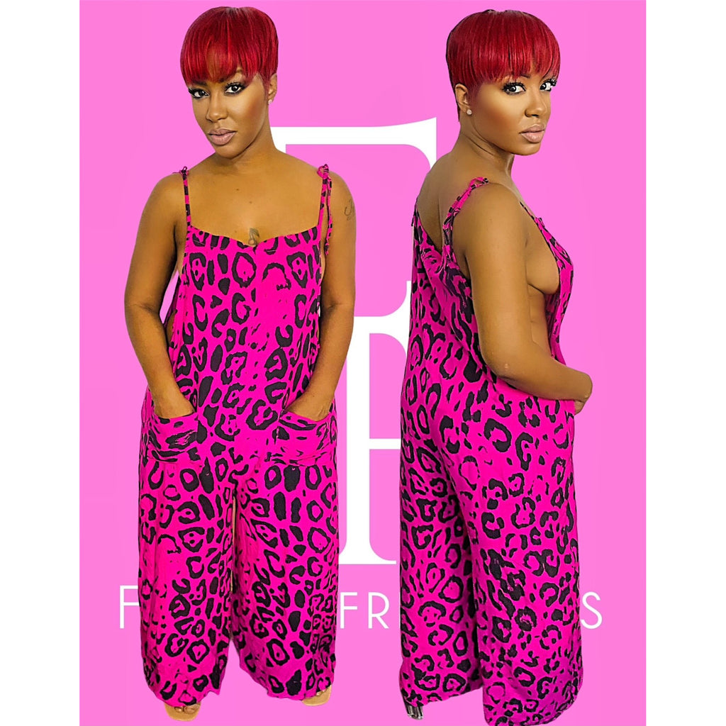 Pink Safari Jumpsuit