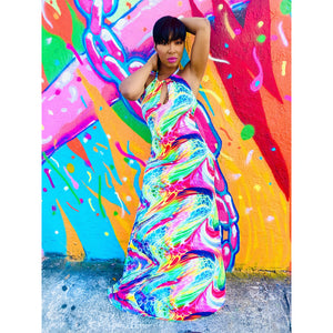 Color Spasm Maxi Dress