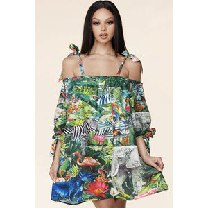 Jungle Baby Doll Dress