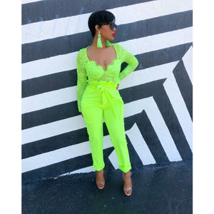 Neon PaperBag Trousers