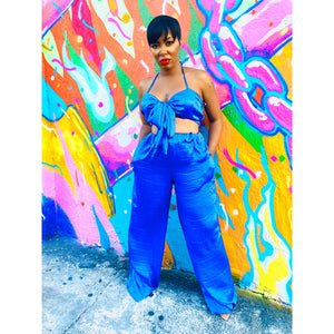 Kelly Pants Set/ Blue