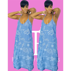 Just Say It Denim Maxi Dress