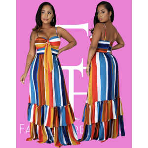Multiple Shades Maxi Dress