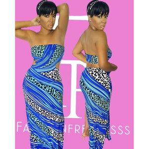 Beautiful Zebra Maxi Dress