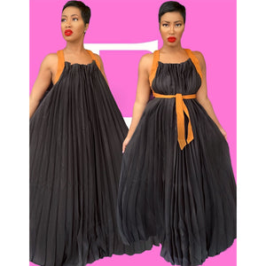 Harness Pleated Dress (2 Colors)