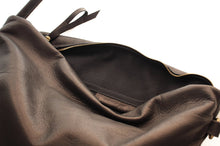Load image into Gallery viewer, Leather cross-boby bag made of italian Black leather. Silvie leather shoulder bag