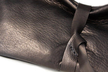 Load image into Gallery viewer, Black leather clutch bag - Clutch CRIS, very soft leather / nappa bag, black