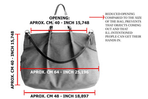 Weekend bag, canvas and leather bag, black; personalized with name.