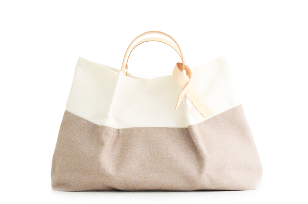 TOTE bag and HAND bag made of canvas and italian leather. Handles interchangeable and extensible. Anna bag. Personalized