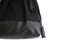 Load image into Gallery viewer, TOTE bag made of canvas and italian leather, black. Anna bag