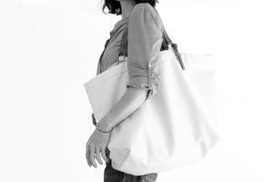 Olivia TOTE bag, Shopping bag, Shopper bag made of canvas and italian leather personalized with name