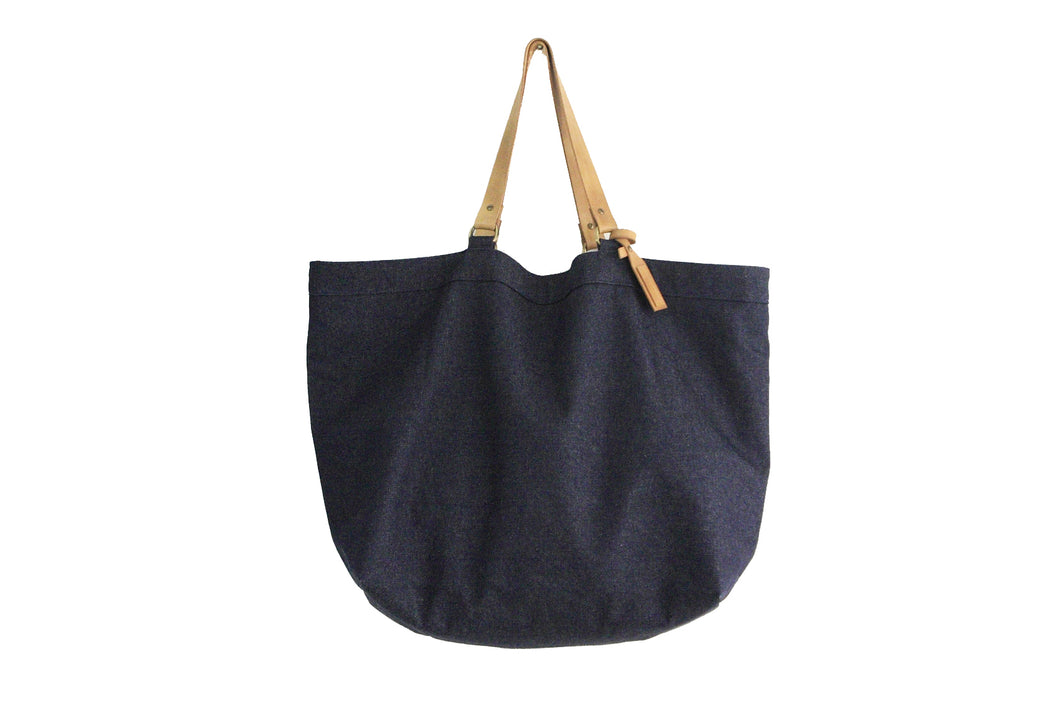 TOTE bag, Shopping bag, Shopper bag made of Denim and italian leather. Personalized with your name. Olivia Tote bag