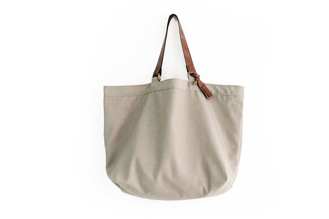 TOTE bag, Shopping bag, Shopper bag made of canvas and italian leather. Personalized with your name. Olivia Tote bag