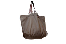 Load image into Gallery viewer, Olivia TOTE bag, Shopping bag, Shopper bag made of canvas and italian leather personalized with name