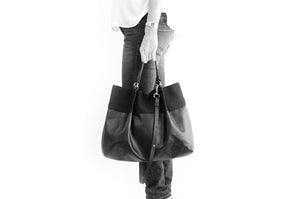 TOTE bag and HAND bag made entirely of Italian leather, brown color. Emma bag leather version