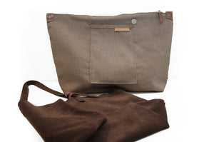 Anita TOTE bag, Shoulder bag made of brown chocolate LEATHER personalized with your name
