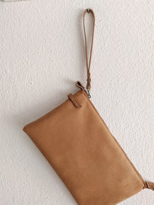 Leather clutch bag and crossbody bag, ADA clutch - customizable with your initials