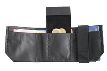 Load image into Gallery viewer, Wallet for him, gift for him, leather wallet color black, idea for dad. Slim LEATHER WALLET