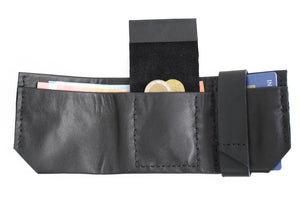 Wallet for him, gift for him, leather wallet color black, idea for dad. Slim LEATHER WALLET