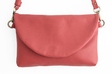 Load image into Gallery viewer, Leather CROSS-BODY bag made of italian leather  color red. Sofia leather crossbody bag