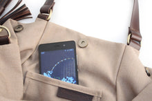 Load image into Gallery viewer, Susy bag, canvas and leather shoulder bag light brown