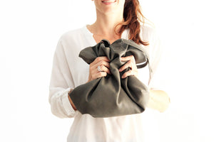 Leather tote bag, SHOULDER BAG made of italian leather grey. Mia leather shoulder bag