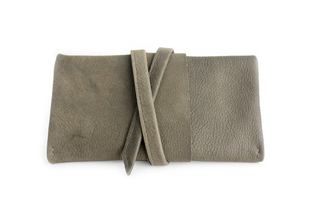 Wallet Cris, leather wallet color grey leather wallet for women. Cris LEATHER WALLET