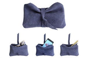 Phone case, Little pouch, eyeglasses holder, pencil case, phone case made of italian leather, blue. Camy, little pouch.