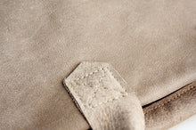 Load image into Gallery viewer, Silvie Leather crossbody bag, SHOULDER BAG with handles made of italian taupe leather