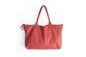 Leather tote bag, SHOULDER BAG made of italian leather RED. Mia leather shoulder bag