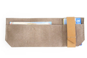 Wallet for him, gift for him, leather wallet color light brown, idea for dad. Slim LEATHER WALLET